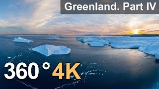 360°, Icebergs of Greenland. Part IV. 4К aerial video