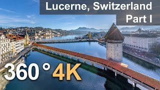 360°, Lucerne, Switzerland. Part I. 4К aerial video