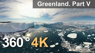360°, Icebergs of Greenland. Part V. 4К aerial video