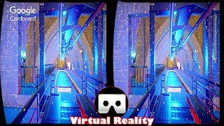 3D Roller Coaster ICE VR Videos 3D SBS [Google Cardboard VR Experience] VR Box Virtual Reality Video