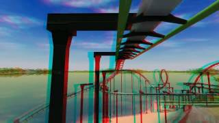 3D - KatunZ Inverted Roller Coaster - POV 3D Anaglyph Red/Cyan Glasses Stereo