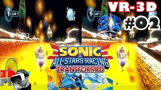 3D Sonic All Star Racing VR #02 | Side By Side SBS Cardboard VR Box Gear Oculus Rift
