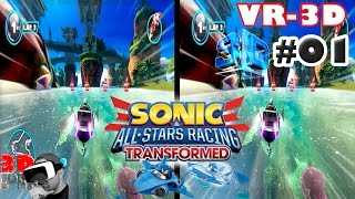 3D Sonic All Star Racing VR #01 | Side By Side SBS Cardboard VR Box Gear Oculus Rift