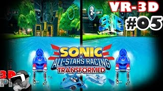 3D Sonic All Star Racing VR #05 | Side by Side SBS Cardboard VR Box Active Passive