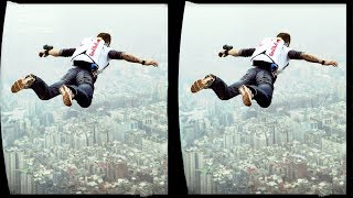 3D  BASE Jumping - VR Virtual Reality Vídeo Google Cardboard VR Box