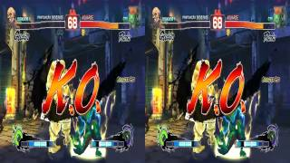 3D Gouken vs Blanka - Super Street Fighters | VR/Cardboard/Active/Passive - SBS