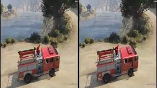 3D Fire Car Crazy - GTA V | VR/Cardboard/Active/Passive - SBS