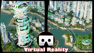 3D SimCity 5 VR Videos 3D SBS [Google Cardboard VR Experience] VR Box Virtual Reality Video