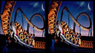 BEST 3D  ROLLER COASTER OF THE DARK - VR Videos 3D SBS Google Cardboard VR Virtual Reality VR Box
